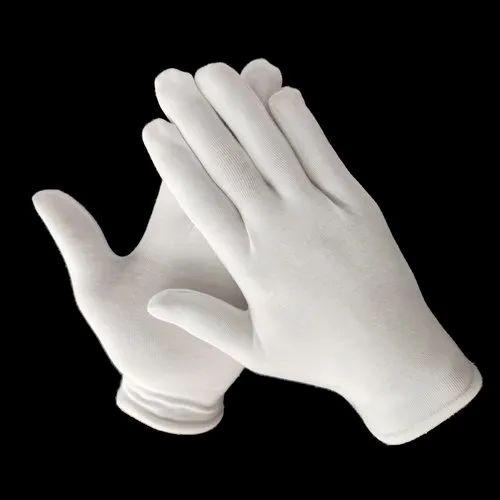 Full Fingered KTH White Lycra Hand Gloves