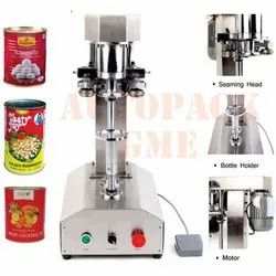 Semi Automatic Can Seamer / Pet Can Sealing Machine