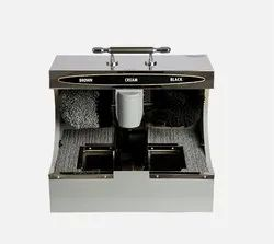 Shoe Polish Machine With Sole Cleaner
