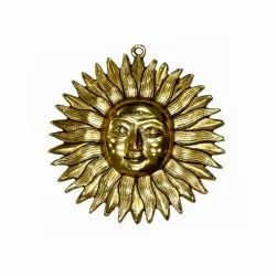 Gold Plated Brass Sun Wall Hanging