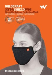 Reusable Wildcraft W95 Washable Mask, Certification: Sitra, Number of Layers: 6