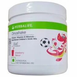 Powder Herbalife Strawberry Dinoshake Nutritional Children Drink, 200 Gm, Prescription
