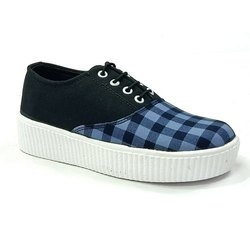 Casual Wear Ladies Lace Up Canvas Shoes, Size: 4-7