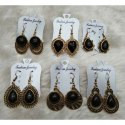 Brass And Golden Golden And Black Fashion Traditional Earring