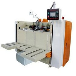 Semi Auto Dual Servo Driven Corrugated Box Stitching Machine
