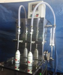 Semi Automatic Two Head Oil Filling Machine