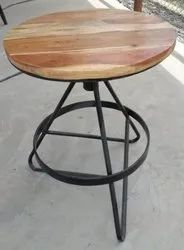 Polished Brown Iron Round Table for Hotel