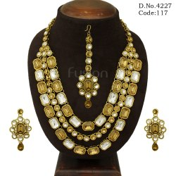 Designer Victorian Stone Necklace Set