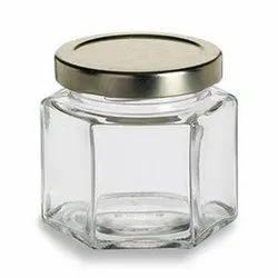 250 ml Hexagonal Glass Honey Jar