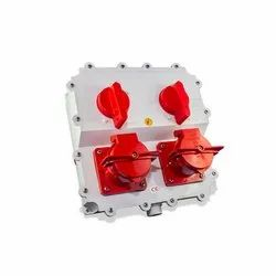 50 - 60 Hz Twin Switch Electrical Receptacle, 35A, Ip 65