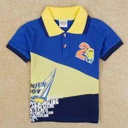 Custom Kids Collar T Shirt