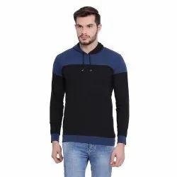 Cotton Vimal Jonney Black Full Sleeve Hoodie T Shirt For Men
