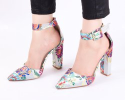 Dech Barrouci Rich Grey High Heels Ladies Sandal