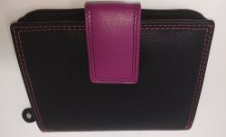 Genuine Leather Ladies Wallet with RFID Blocking