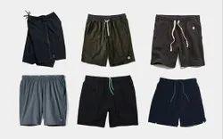 Plain Black Athletic Shorts, Size: Large