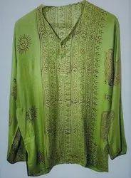 Parrot Green Printed Kaftan For Casual Beach Wear