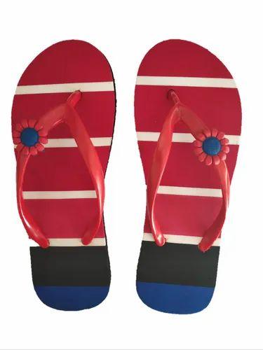 8ce24a5a84f6d Breezy Multicolour Ladies Daily Wear Flip Flop