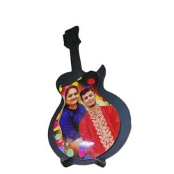 Wooden Sublimation Guitar Photo Frame for Birthday