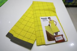 Yellow Party wear Simmba Cotton Checked Salwar Suit