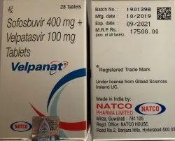 Velpanat Tab (Sofosbuvir 400Mg Velpatasvir 100Mg)