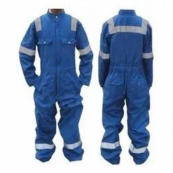 Poly cotton Blue and White Full Sleeves Industrial Worker Uniforms