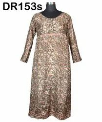 Vintage Recycled Saris Women's Long Maxi Dress DR153s