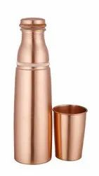 Dr. Vedic Polished Copper Glass Bottle, Packaging Type: Box, Capacity: 1000 mL