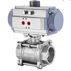 3 Way Ball Valve with Rotary Actuator, Size: Standard