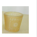 African Glass Candle