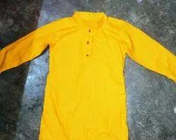 Cotton Plain Ladies Gents Kurta, Size/Dimension: Custom made