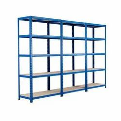 Blue Mild Steel Industrial Slotted Angle Steel Rack