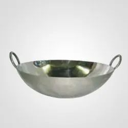 Round Stainless Steel Kadhai, for Home, Features: Corrosion Resistant