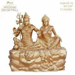 GA10 Fiberglass Shiv Parvati Sculpture