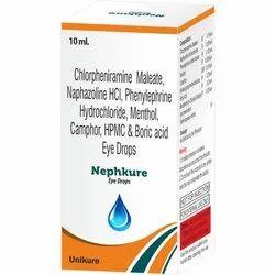 Unikure Allopathic Chlorpheniramine Maleate Nephkure Eye Drops, Bottle Size: 10 ml