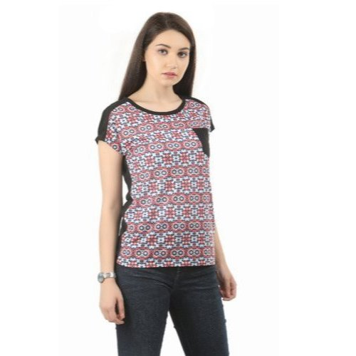 SVD Cotton Ladies Round Neck T Shirt