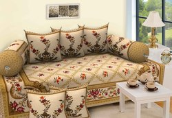 Cotton Print Diwan Set of 8 Pieces