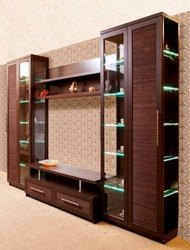 Brown Home TV Cabinet for Hotel, Warranty: 2 Years