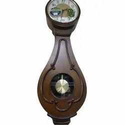 Brown Wood Rhythm Pendulum Wall Clock, Packaging Type: Box