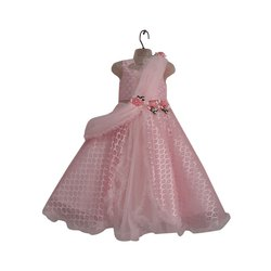 14b0497be2bf Pink Printed Fancy Kids Gown