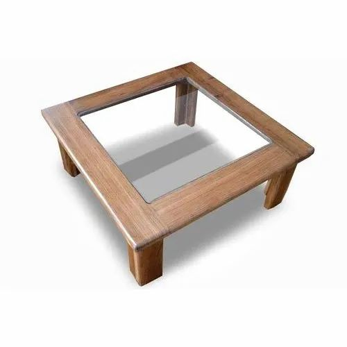 Modern Square Wood And Glass Coffee Table For Home Rs 1400 Piece Id 21678574130