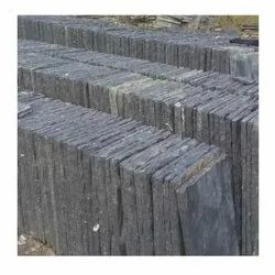 Black Natural Hand Cut Lime Stone, Thickness: 3-7 mm