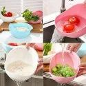 Plastic Vegetable Fruit Basket/Colander Rice Wash Sieve Washing Bowl