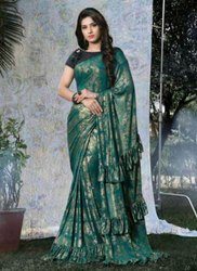 New Designer Party Wear Ruffle Sarees
