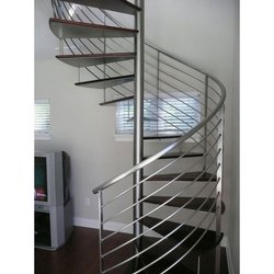 Stainless Steel Polished Staircase