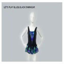 Blue and Black Swimwear