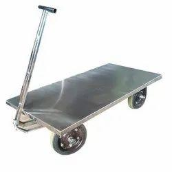 Creative Enterprises Mild Steel Platform Trolley, Load Capacity: 250-300 Kg, Model Name/Number: CE-PTM005