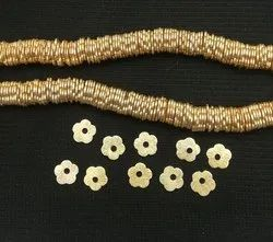Brushed Gold Plated Flower Bead Spacer