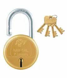 Godrej Nav-Tal 7lver 4 Keys Brass Padlocks
