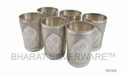 Pure Silver Fancy Engraving Tumbler Set