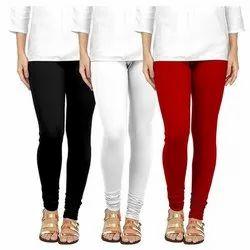 Plain Casual Wear Ladies Cotton Legging, Size: L